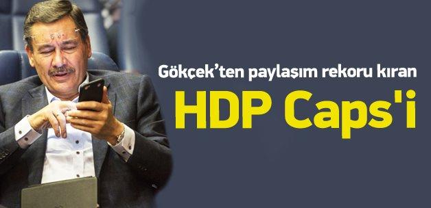 Melih Gökçek'ten HDP caps'i