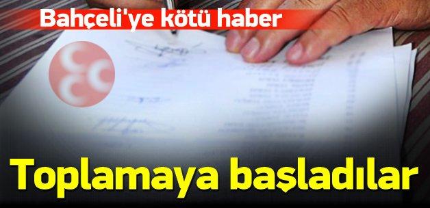 MHP'de Bahçeli karşıtları imza topluyor