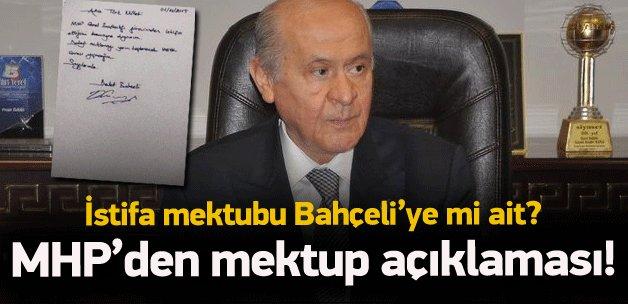 O mektup Bahçeli'ye mi ait? MHP'den açıklama