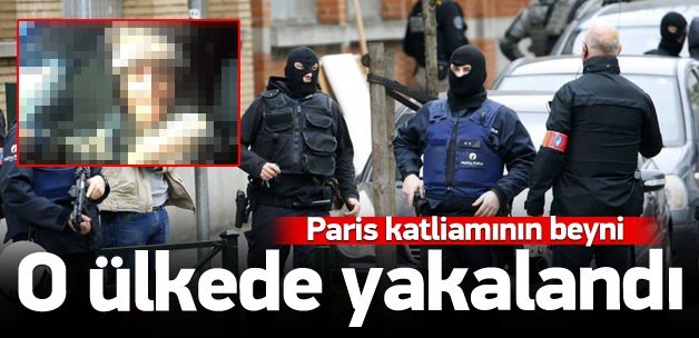 Paris katliamının ana şüphelisi yakalandı!