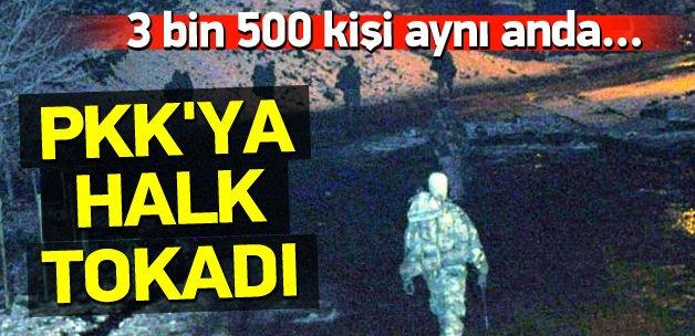 PKK'ya halk tokadı! 3 bin 500 kişi silahları attı