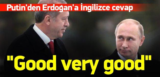 Putin'den Erdoğan'a İngilizce cevap