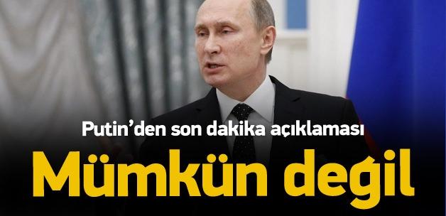 Putin: Türkiye'nin bilmemesi mümkün değil