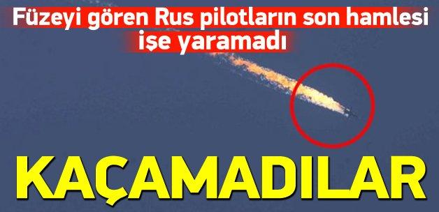Rus pilotların son hamlesi işe yaramadı