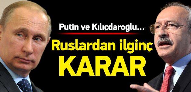 Ruslardan ilginç Kılıçdaroğlu önerisi