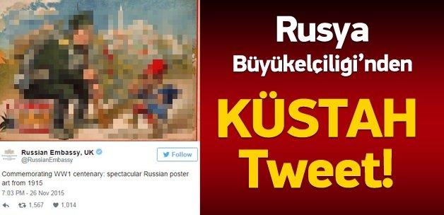 Rusya'dan küstah tweet!
