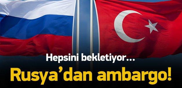 Rusya'dan Türk gemilerine ambargo