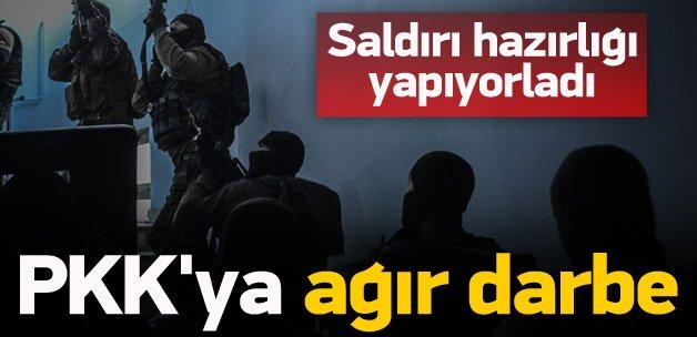 Saldırı hazırlığındaki PKK'lılara ağır darbe