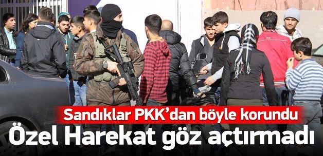 Sandıklar PKK'dan böyle korundu