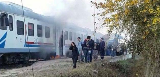 Trende yangın paniği: Yolcular raylara atladı