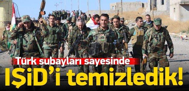 Türk subaylarının verdiği eğitim sayesinde...