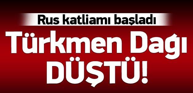 Türkmen Dağı rejimin eline geçti!