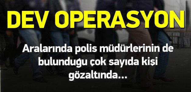 14 ilde FETÖ operasyonu: 16 gözaltı var