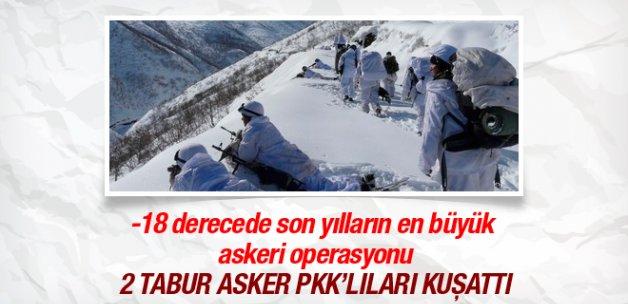 2 tabur asker Tunceli'de operasyona çıktı!
