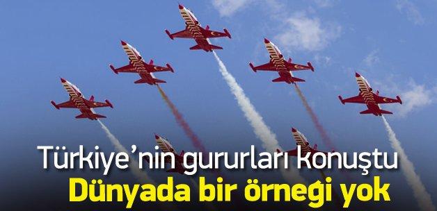 3 km irtifada 7 G kuvvette Türk Yıldızları
