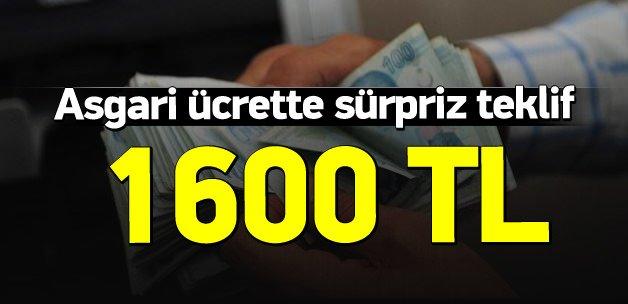 3. turda asgari ücrette 1600 TL'lik teklif
