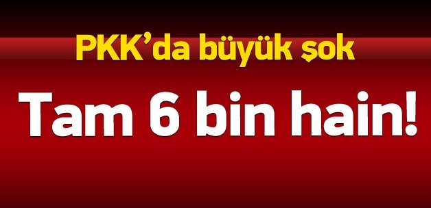 6 bin PKK'lı terörist öldürüldü!