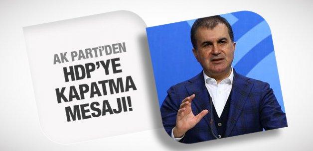 AK Parti'den HDP'ye kapatma davası mesajı!