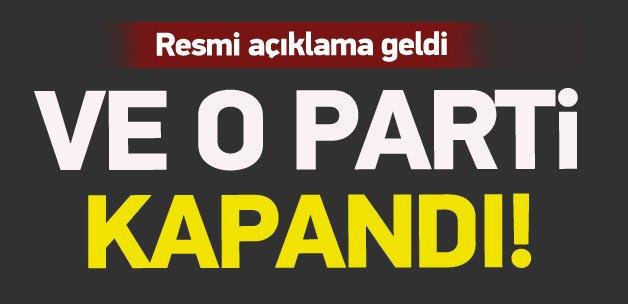 """Anadolu Partisi """"kapanma"""" kararı aldı"""