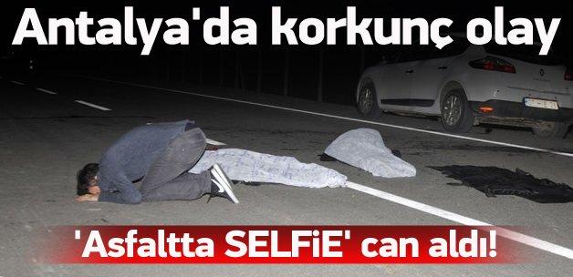 'Asfaltta' selfie canlarından etti! Korkunç olay