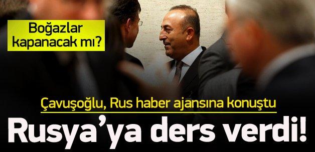 Bakan Çavuşoğlu'ndan Rusya röportajı