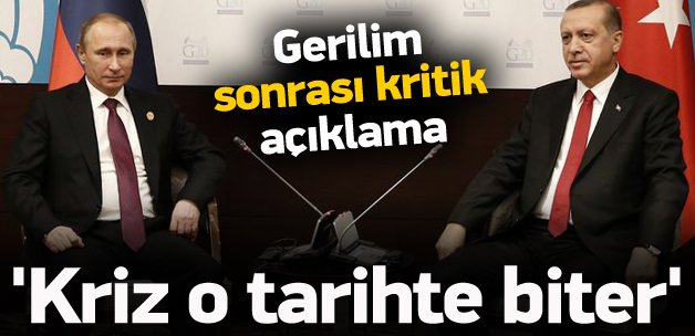 Bakan Tüfenkci: Rusya krizi Mart'ta biter