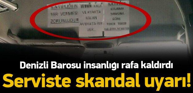 Baro servisinde skandal uyarı