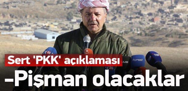 Barzani'den sert açıklama: Pişman olacaklar