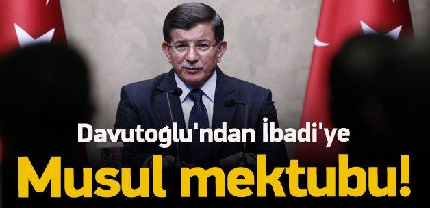 Başbakan Davutoğlu'ndan İbadi'ye mektup