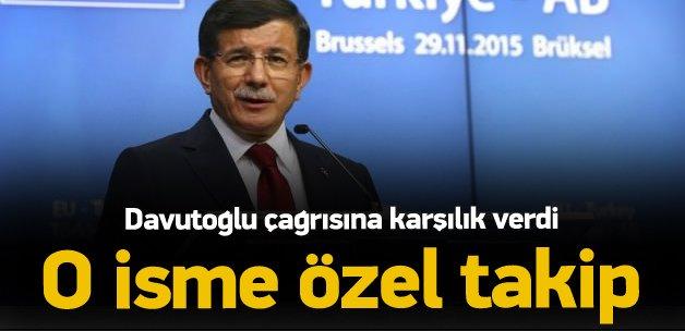 Başbakan Davutoğlu'ndan özel takip