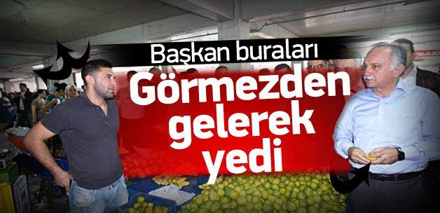 Bayraklı'daki kapalı pazarda 'sağlık' skandalı