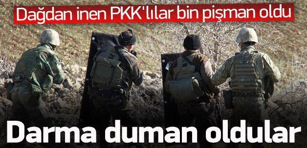 Dağdan inen PKK'lılar darma duman oldu