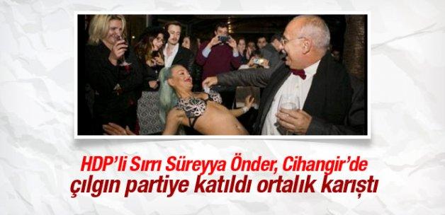 Dansözlü partiye giden HDP'li Önder'e tepki