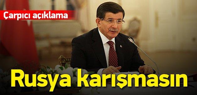 Davutoğlu: Irak'a üçüncü bir ülke karışmasın