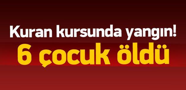 Diyarbakır'da facia: 6 çocuk yanarak öldü