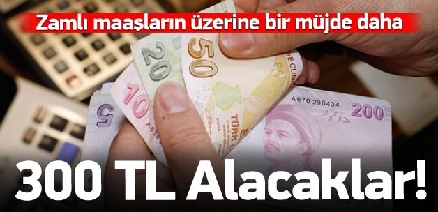 Emeklilere bir müjde daha: 300 lira...