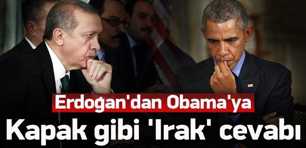Erdoğan'dan Obama'ya kapak gibi cevap