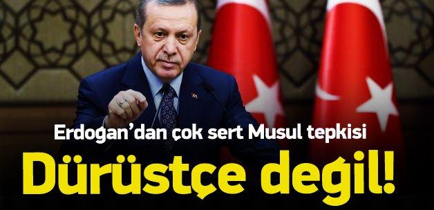 Erdoğan'dan sert tepki: Dürüstçe değil