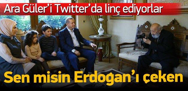 Erdoğan'ı çeken Ara Güler'i yerden yere vurdular