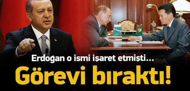 Erdoğan o ismi işaret etmişti! Görevi bıraktı