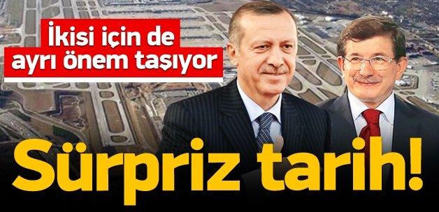 Erdoğan ve Davutoğlu'na 'havalimanı' sürprizi
