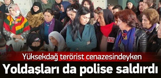 Figen Yüksekdağ teröristin cenazesine katıldı