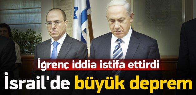 İsrail'de ortalık karıştı, bakan istifa etti