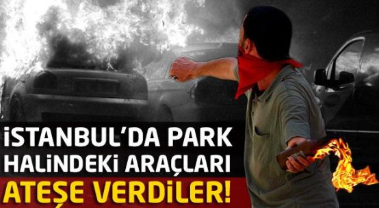 İstanbul'da park halindeki araçları ateşe verdiler
