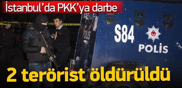 İstanbul'daki baskında 2 terörist öldürüldü