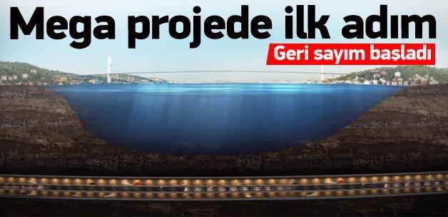 İstanbul Tüneli Projesi'nde ilk adım