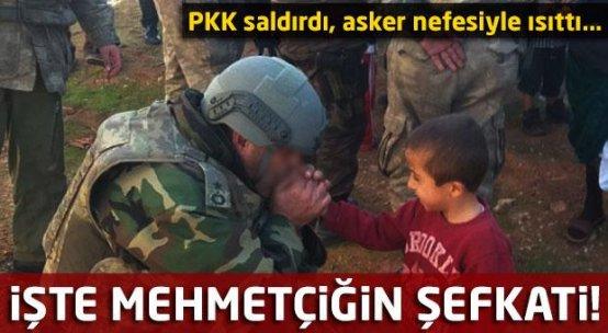 İşte Mehmetçiğin şefkati