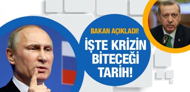 İşte Rusya-Türkiye krizinin biteceği tarih! Bakan açıkladı