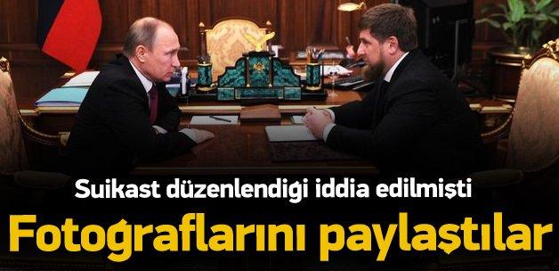 Kadirov'un fotoğraflarını paylaştılar