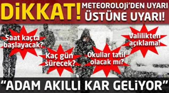 Kar ne zaman yağacak? İstanbul'da yoğun kar alarmı!